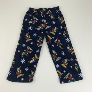 Disney Mickey Mouse Blue Holiday Sleep Bottoms 4t